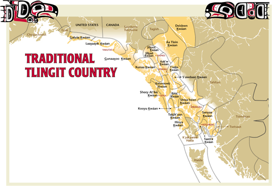 Traditional Tlingit Map And Tribal List