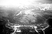 The terminus of Susitna Glacier during the 1985 surge event